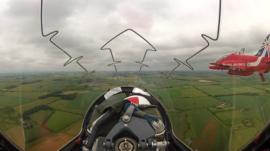 View from Red Arrow cockpit