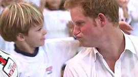 Prince Harry and child