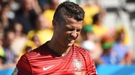 Cristiano Ronaldo's Portugal bow out of the 2014 World Cup despite beating Ghana 2-1