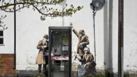 The Banksy mural