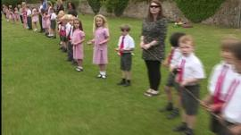 Pupils attempt loom record at this school in Wells as John Maguire reports