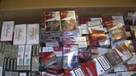 Stash of illegal cigarettes