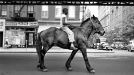 Street scene as seen by Vivian Maier