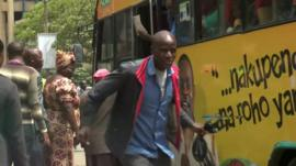 Public bus in Kenya