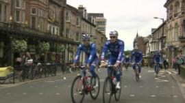 Team FDJ riders in Harrogate