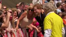 Prince Harry with fan