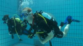 Prince William and scuba instructor