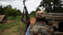 Former Seleka soldier near Bambari, CAR (10 May)