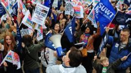 A rally in Birmingham