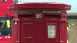 A Royal Mail post-box