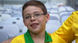 Young Brazil fan Tomaz