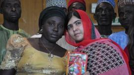 Malala and the mother of one of the kidnapped girls