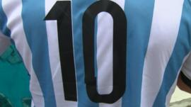 A shirt with the number 10