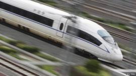 Bullet train in China