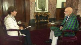 Lyse Doucet and Hamid Karzai