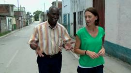 Sarah Rainsford and Guantanamo Bay resident