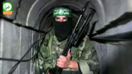 Hamas fighter - still from Hamas footage