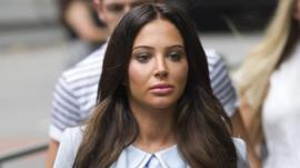Tulisa Contostavlos arriving at court