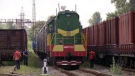 train carrying bodies arrives in Kharkiv