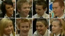 Eight St Mungo's Academy pupils in 2007