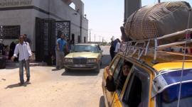 The border crossing from Gaza into Egypt at Rafah