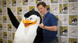Skipper the Penguin and Benedict Cumberbatch