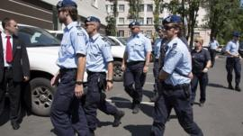Dutch police in Donetsk