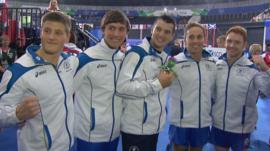 Frank Baines, Liam Davie, Adam Cox, Dan Keatings and Dan Purvis