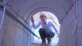 Orla Guerin inside Gaza tunnel