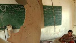 United Nations school in Gaza damaged by Israeli shellfire