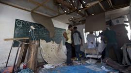 The UN run school was at the Jabaliya refugee camp in the northern Gaza Strip