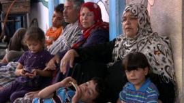 Families at UN-run school in Gaza