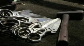 Part made scissors