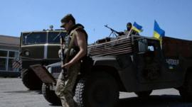 File picture of Ukrainian troops
