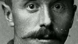 Face of a WW1 soldier