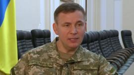 Ukraine Defence Minister Valeriy Heletey
