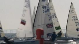 Sailors competing in Olympic test events in Rio