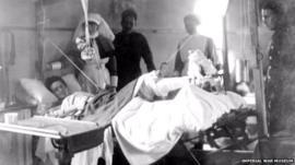 Photograph of World War One hospital