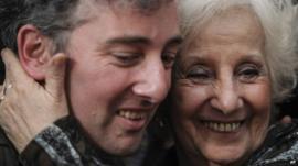 Ignacio Hurban and his grandmother