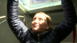 The BBC's Anna Holligan joined the crew inside the Arctic Sunrise as it sailed home