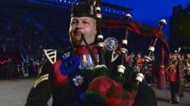 Piper at the Edinburgh Tattoo
