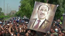 Supporters of Nouri Maliki