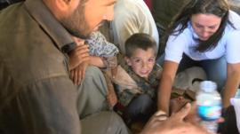 Aid mission helping refugees