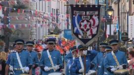 Ballymoney Unionist band parade