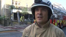 Fire officer Phil Pinches