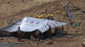 Refugees on Mount Sinjar