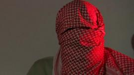British Muslim disguised with headscarf