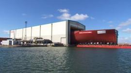 BAE Shipyard in Portsmouth
