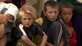 Children in refugee camp