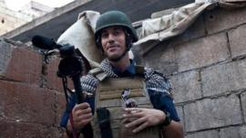 James Foley in Aleppo, Syria. Photo: 2012